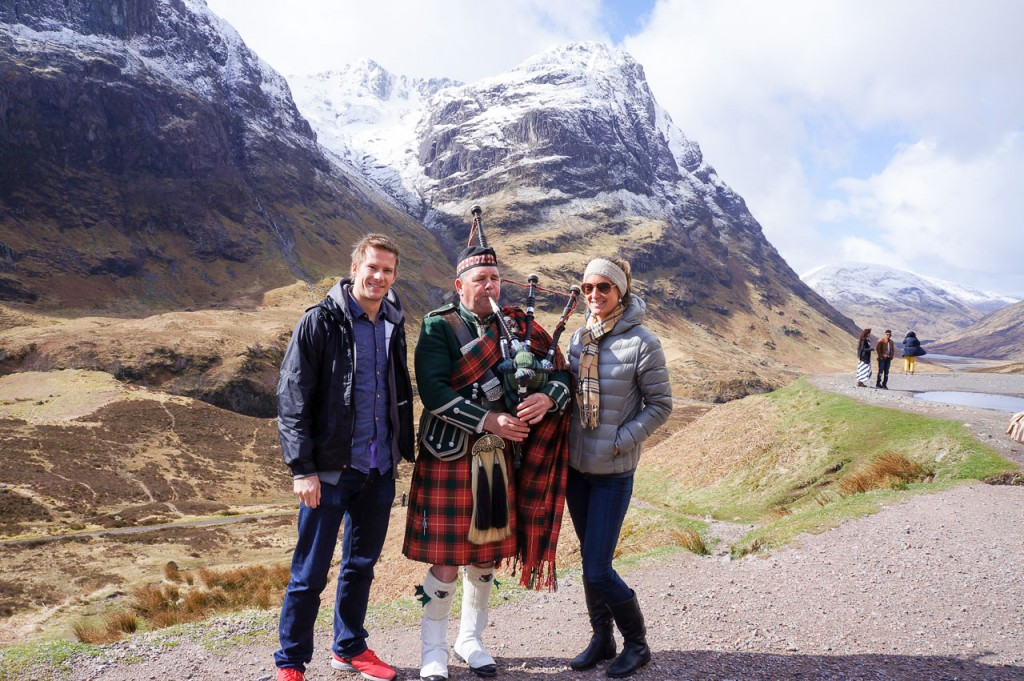 Scottish Highlands & Bagpiper