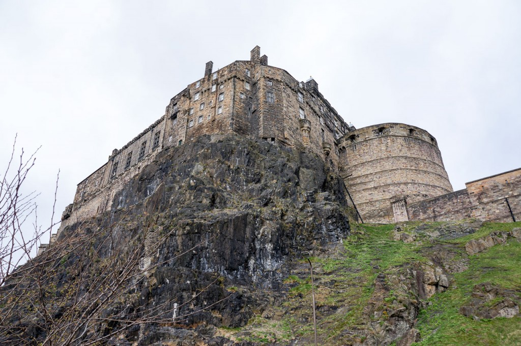 The other side of Edinburgh Castle