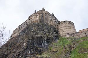 The other side of Edinburgh Castle