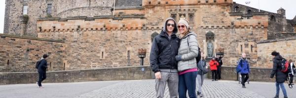 Outside of Edinburgh Castle