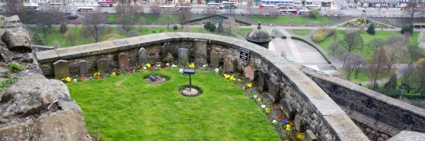 Dog cemetery at the castle. Notice the tiny tombstones?