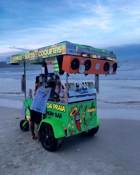 DJ booth on the Beach