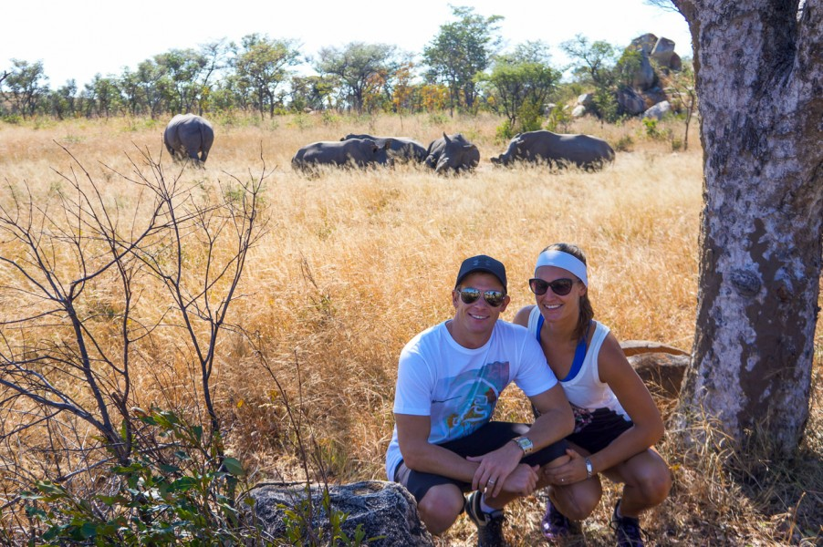 Walking with Rhinos