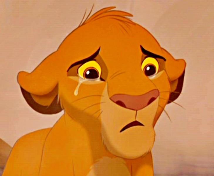 Crying Simba