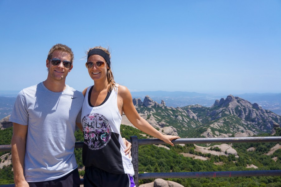 View from the top of Montserrat