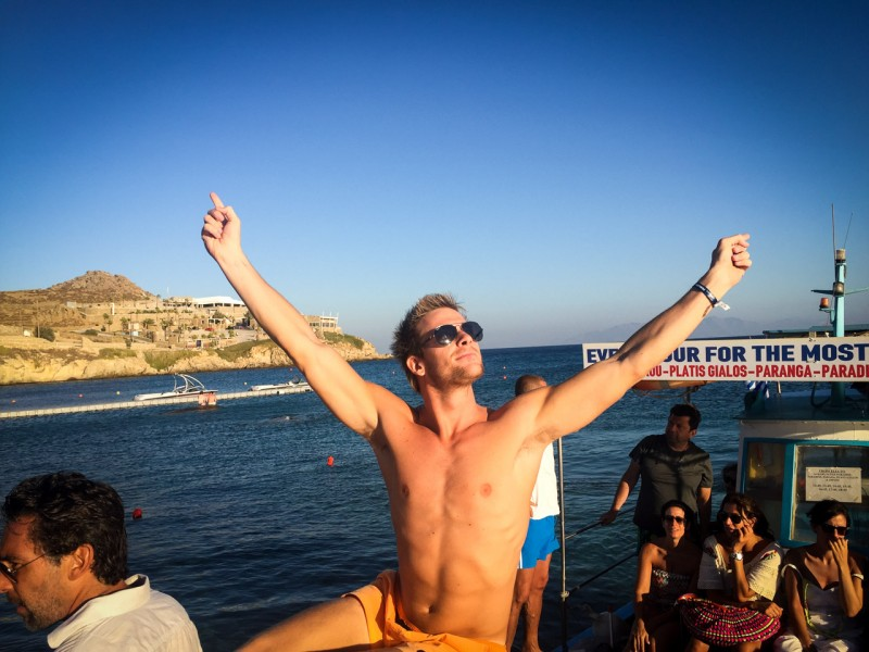 Partying in Mykonos