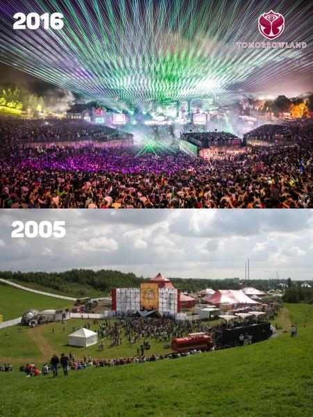 Tomorrowland 2005 vs 2016