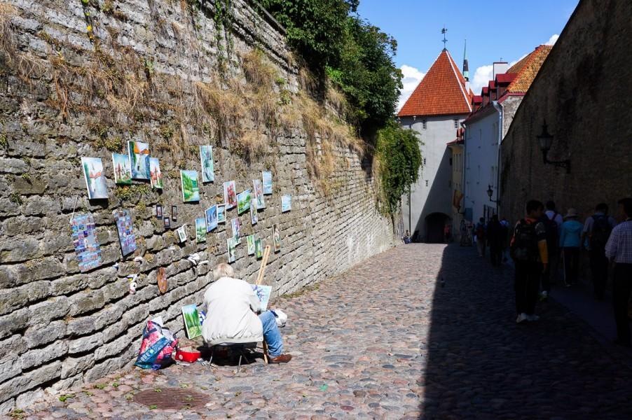 The streets of Tallinn