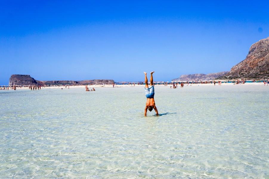 Handstands at Balos