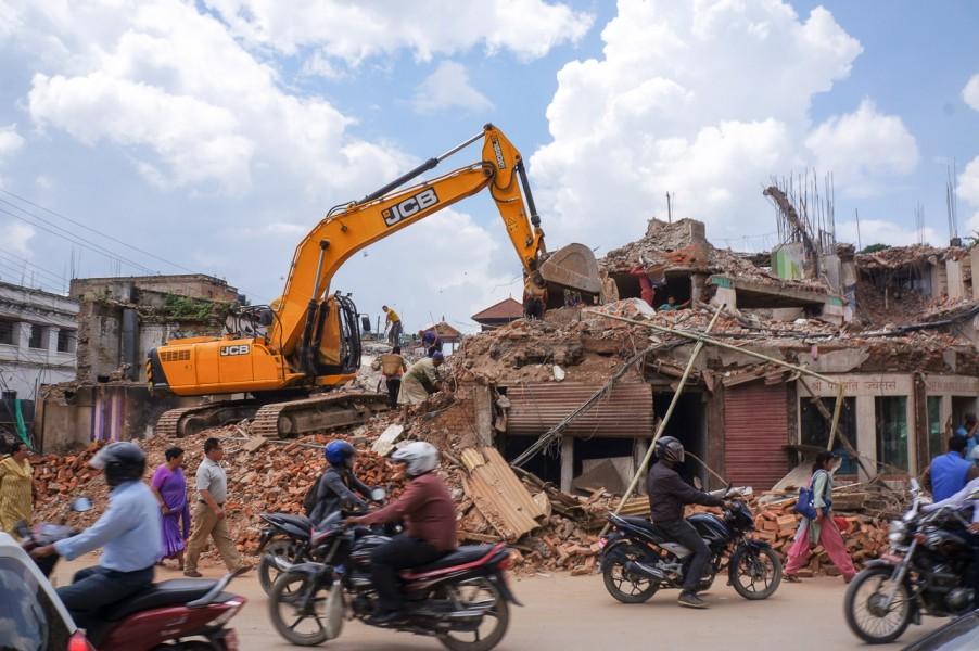 Earthquake devestation