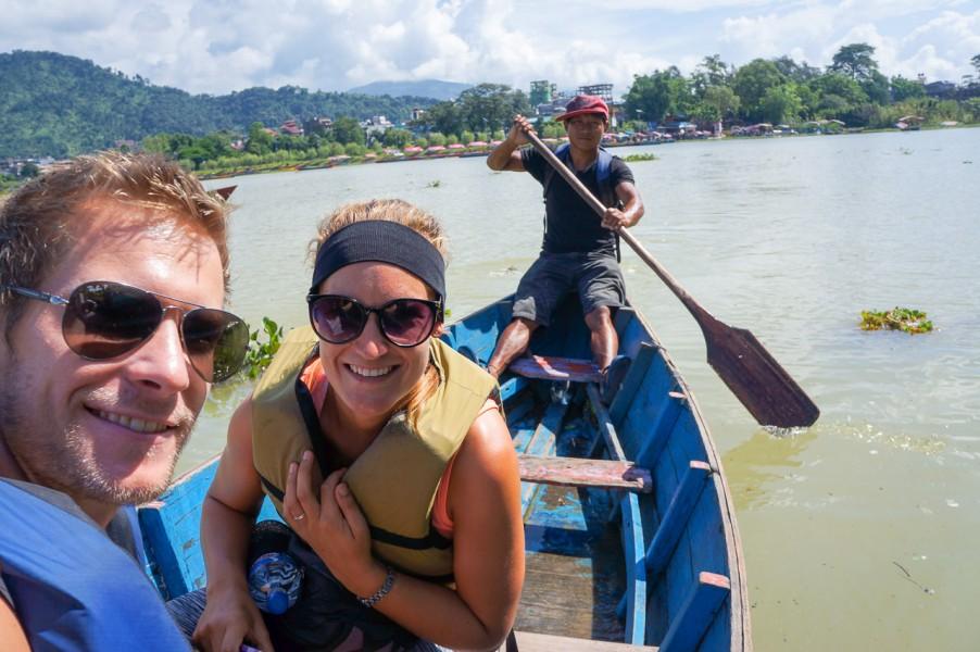 Boat to the world peace pagoda
