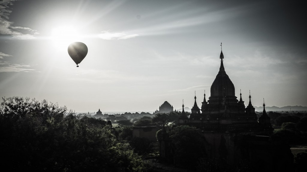 Sunrise with Balloons