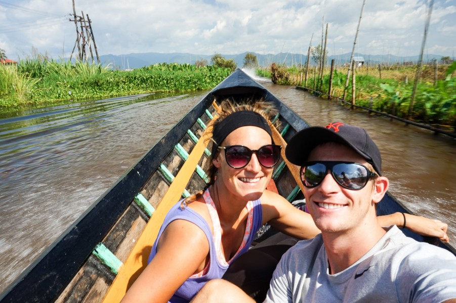 Boat to Inle Lake