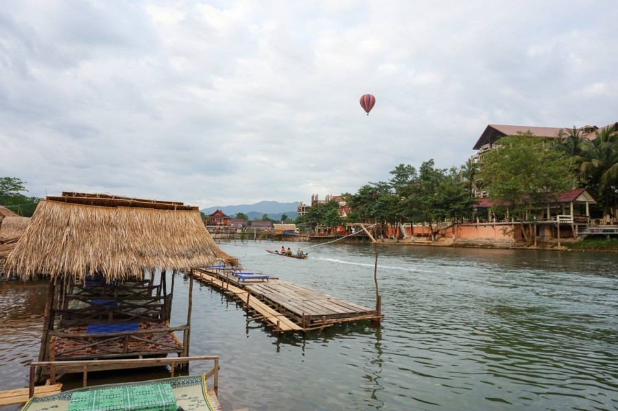Hot Air Ballooning in Vang Vieng