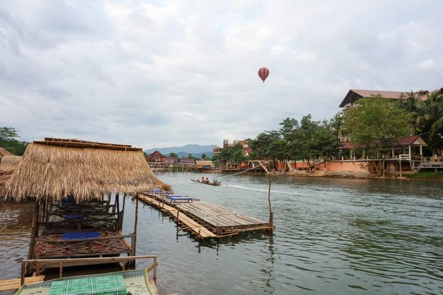 Hot Air Ballooning in Vang Vieng