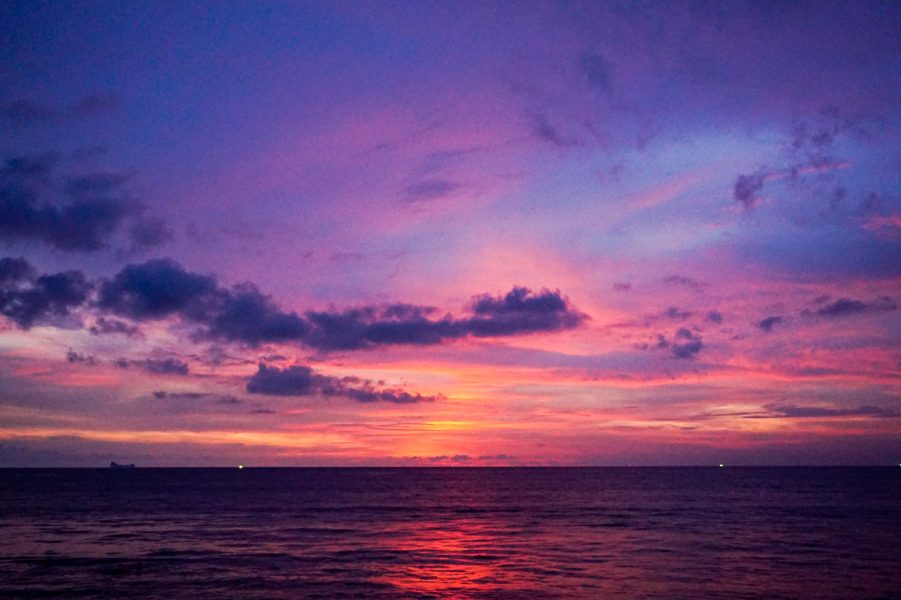 Purple Sunset Koh Lanta Thailand