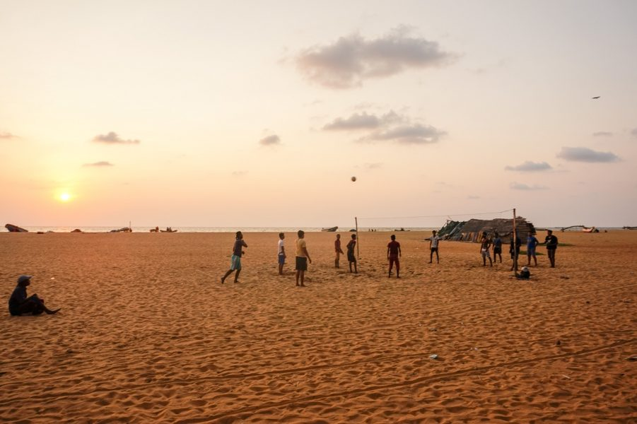 Sunset at Negombo Beach