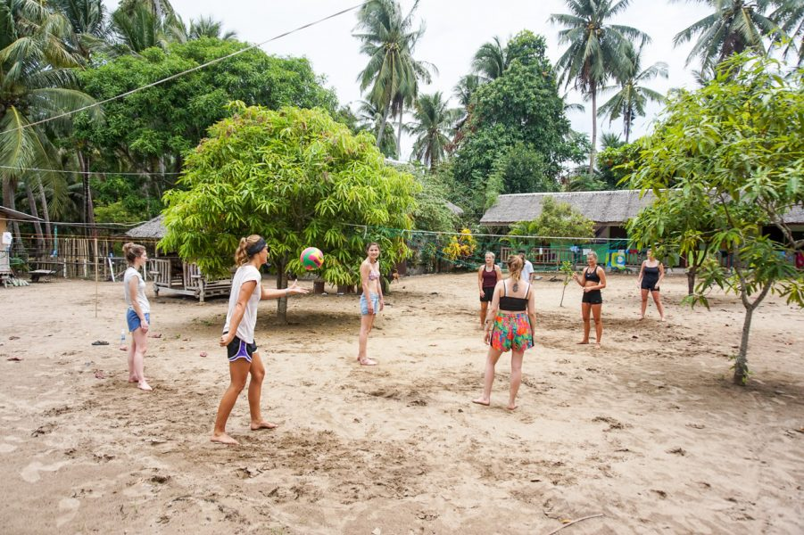 Volleyball at Camp