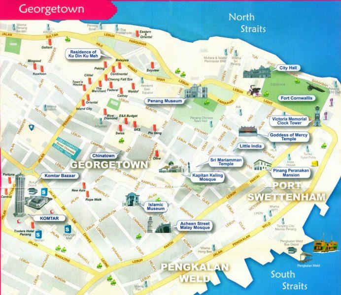 Penang Food Street Map