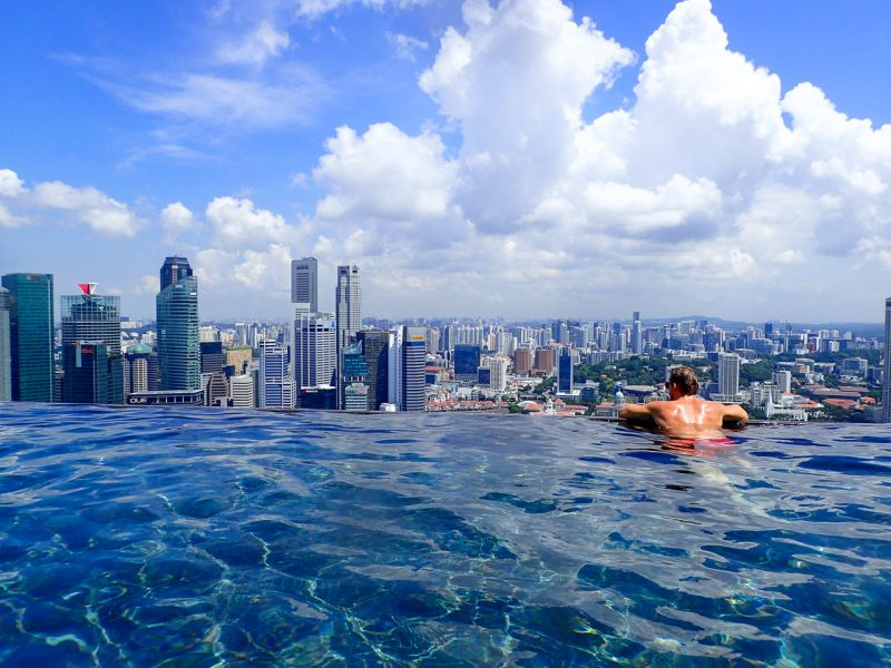 infinity pool singapore splurging at marina bay sands the world s largest 30080