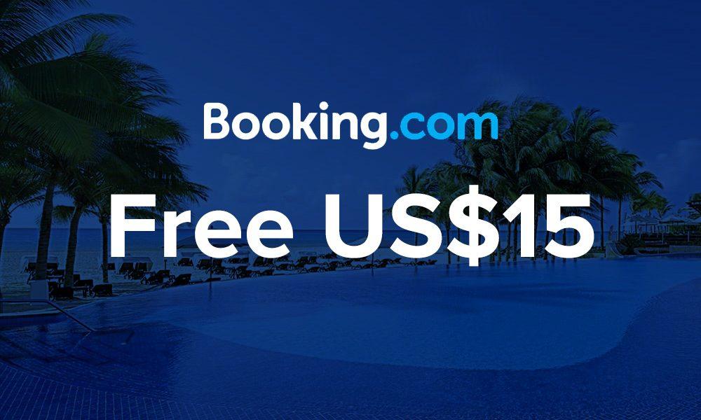 Booking.com Free $15