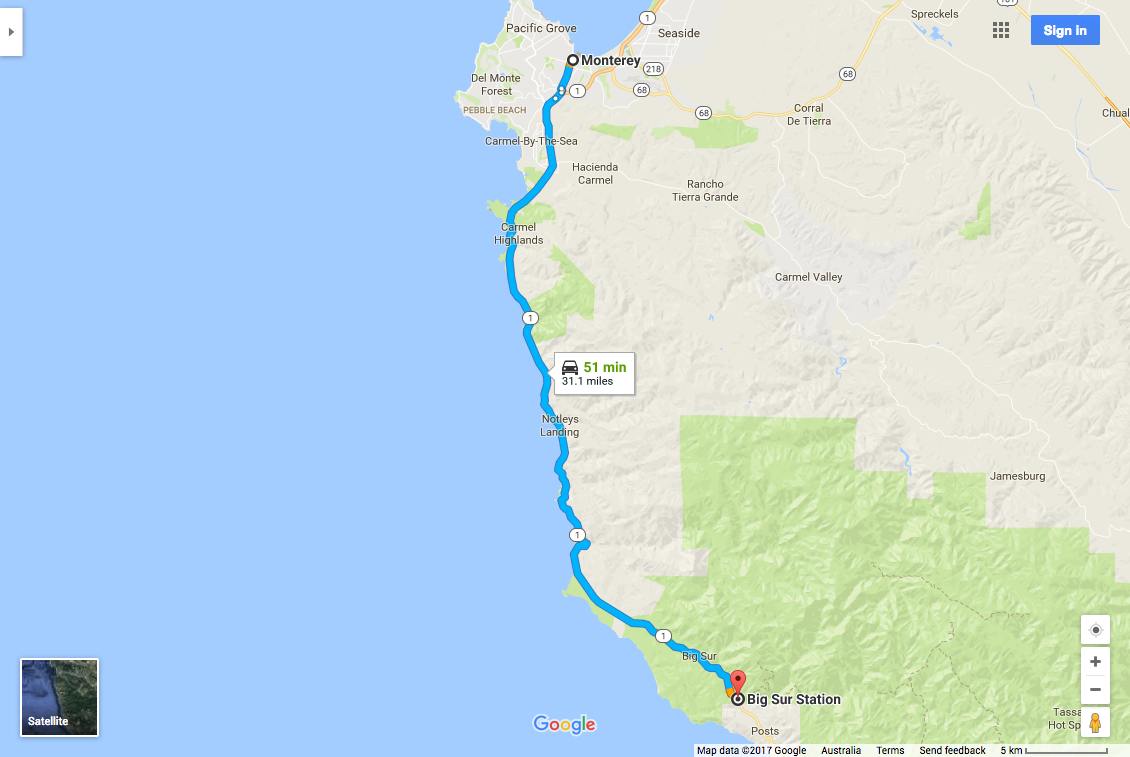 Monterey to Big Sur