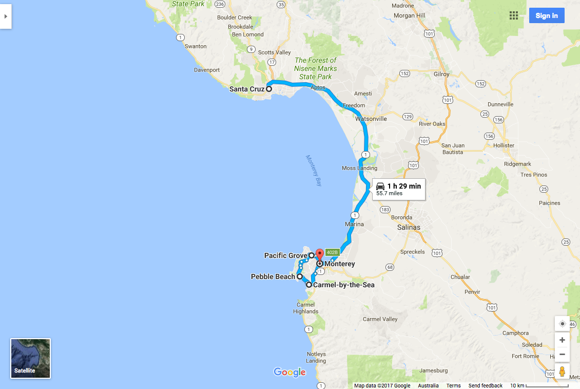 Santa Cruz to Monterey