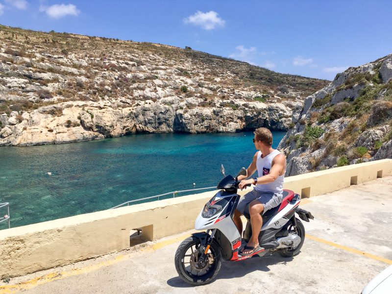 Scooter in Gozo