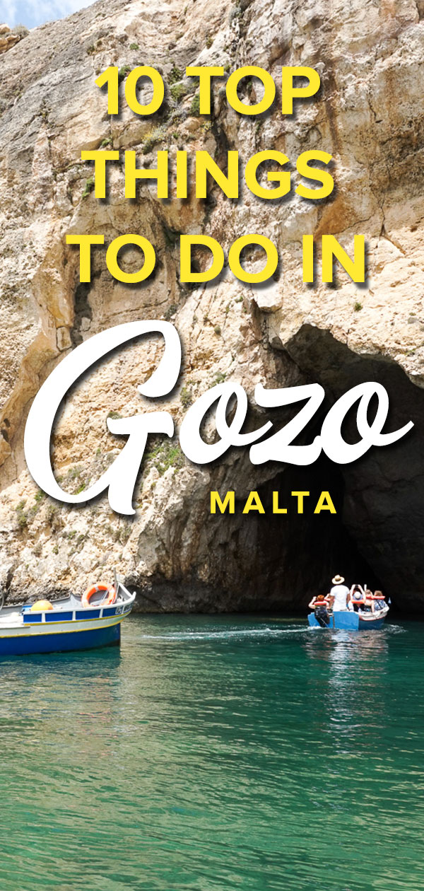 Gozo top things to do Pinterest