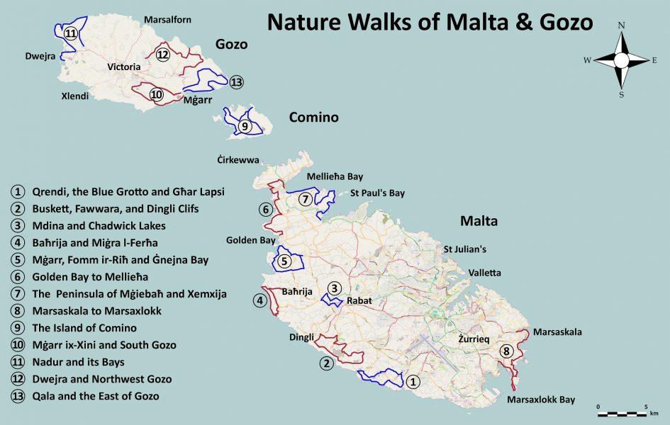Hiking Trails of Malta