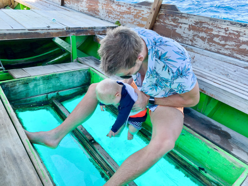 Glass Bottom Boat - The Gili Islands
